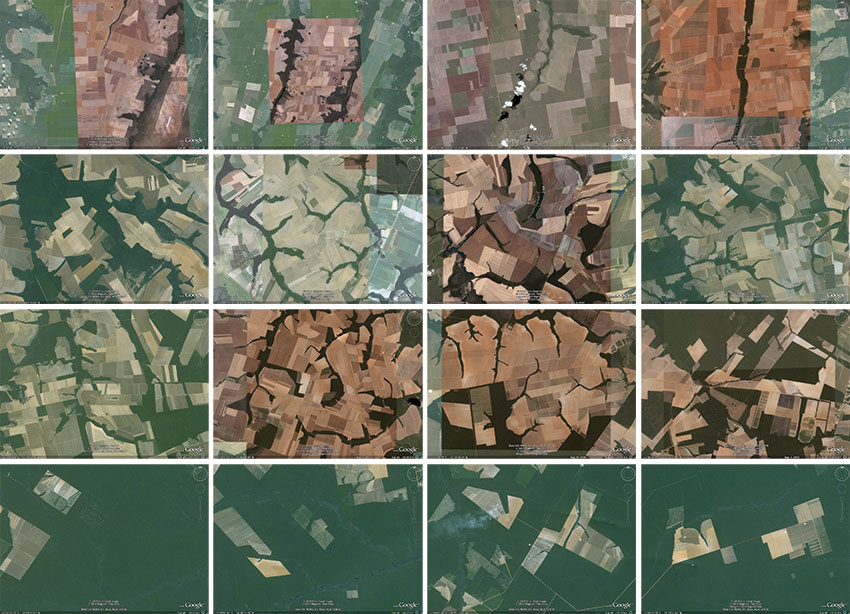 Arredores de Progresso no Mato Grosso capturados no Google Earth